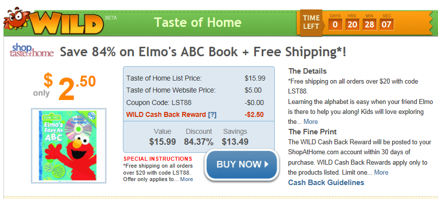 Elmo's ABC Book for $2.50!!!