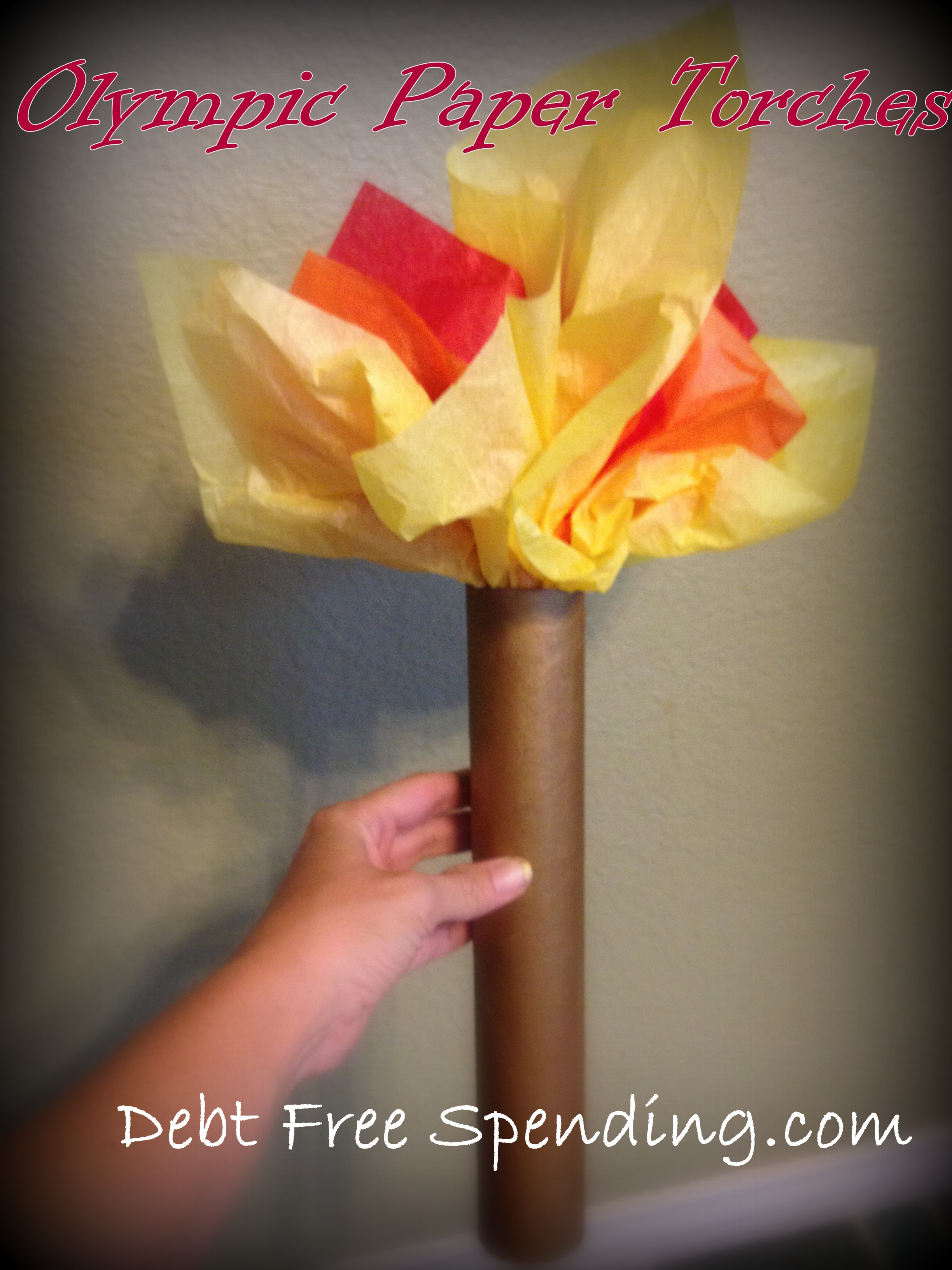 how to make a olympic torch out of paper
