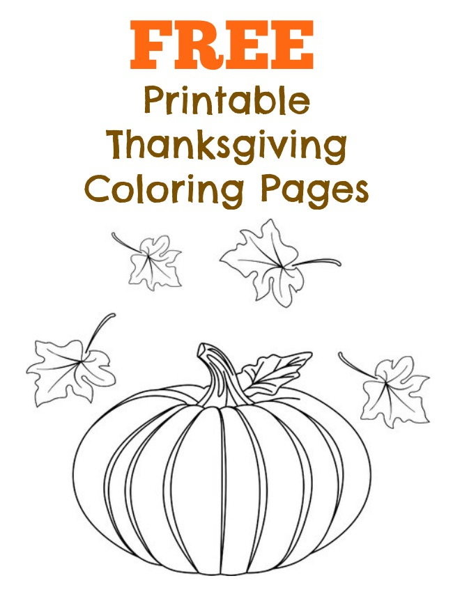 free coloring pages thanksgiving printables - photo#36