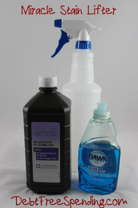 miracle cleaner hydrogen peroxide dawn debt free spending