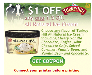 Turkey hill ice cream coupons