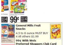 Weis Betty Crocker Fruit Snacks Deal