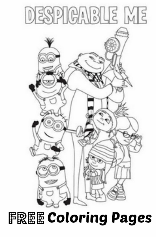 Despicable Me FREE Coloring Pages