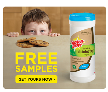 Scotch-Brite Botanical Disinfecting Wipes Free Sample