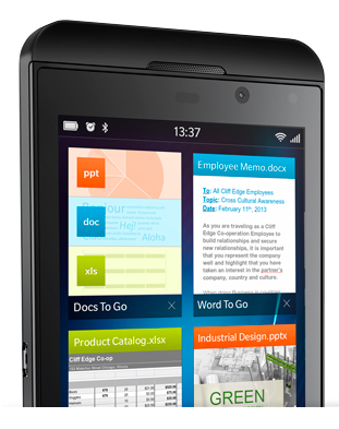 blackberry documents to go an office on your phone With documents to go blackberry