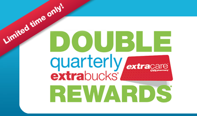 CVS: Double Quarterly Extra Bucks Rewards