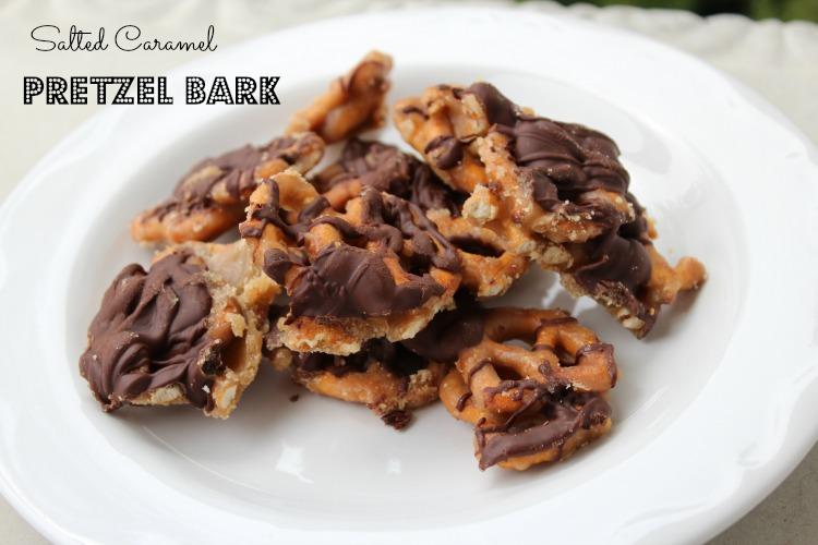 Salted Caramel Pretzel Bark