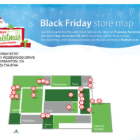 Walmart Black Friday Store Map 2013