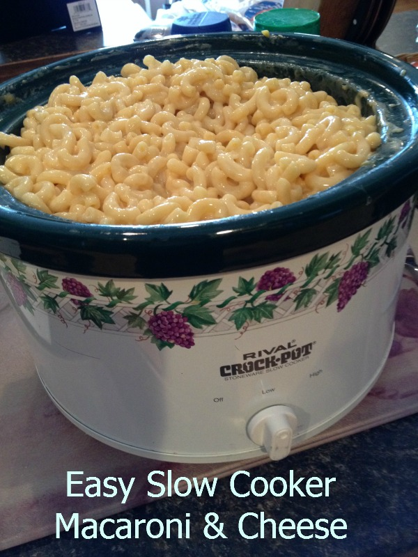 Slow Cooker Easy Macaroni & Cheese - Debt Free Spending