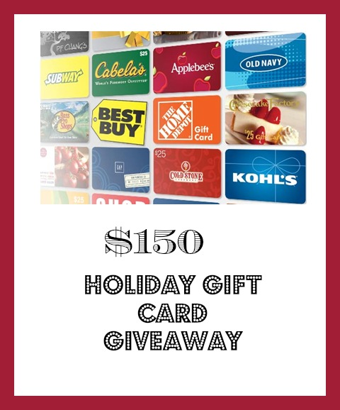 Updated Gift Card Giveaway