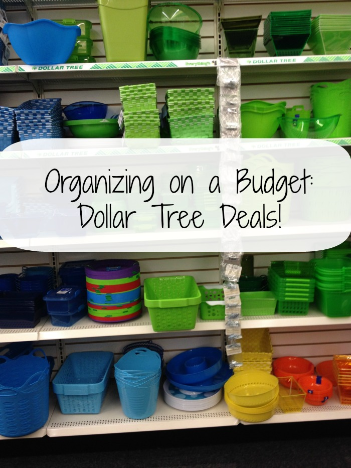organizing on a budget dollar tree deals