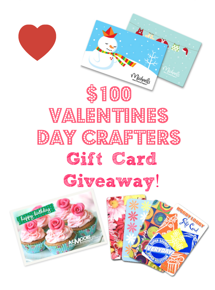 Valentine's Day Gift Card Giveaway