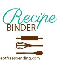 Recipe Binder Cover