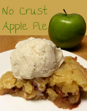 No Crust Apple Pie