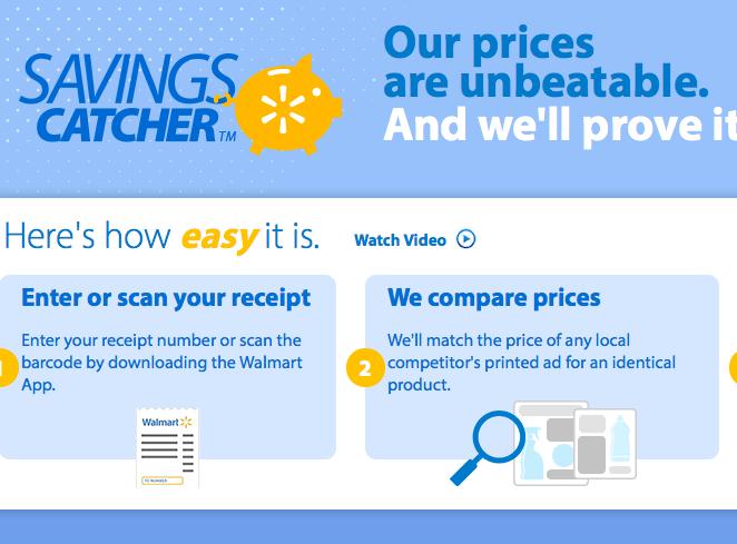 Walmart savings catcher app or online debt free spending