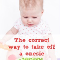The Correct Way to Take of a Onesie