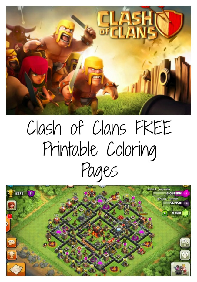 FREE Clash of Clans Coloring Pages Debt Free Spending – Free Online Printable Valentine Cards
