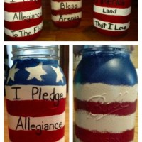 Patriotic American Mason Jar Craft
