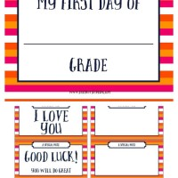 FREE Printable First Day Of Printable School Sign + School Notes