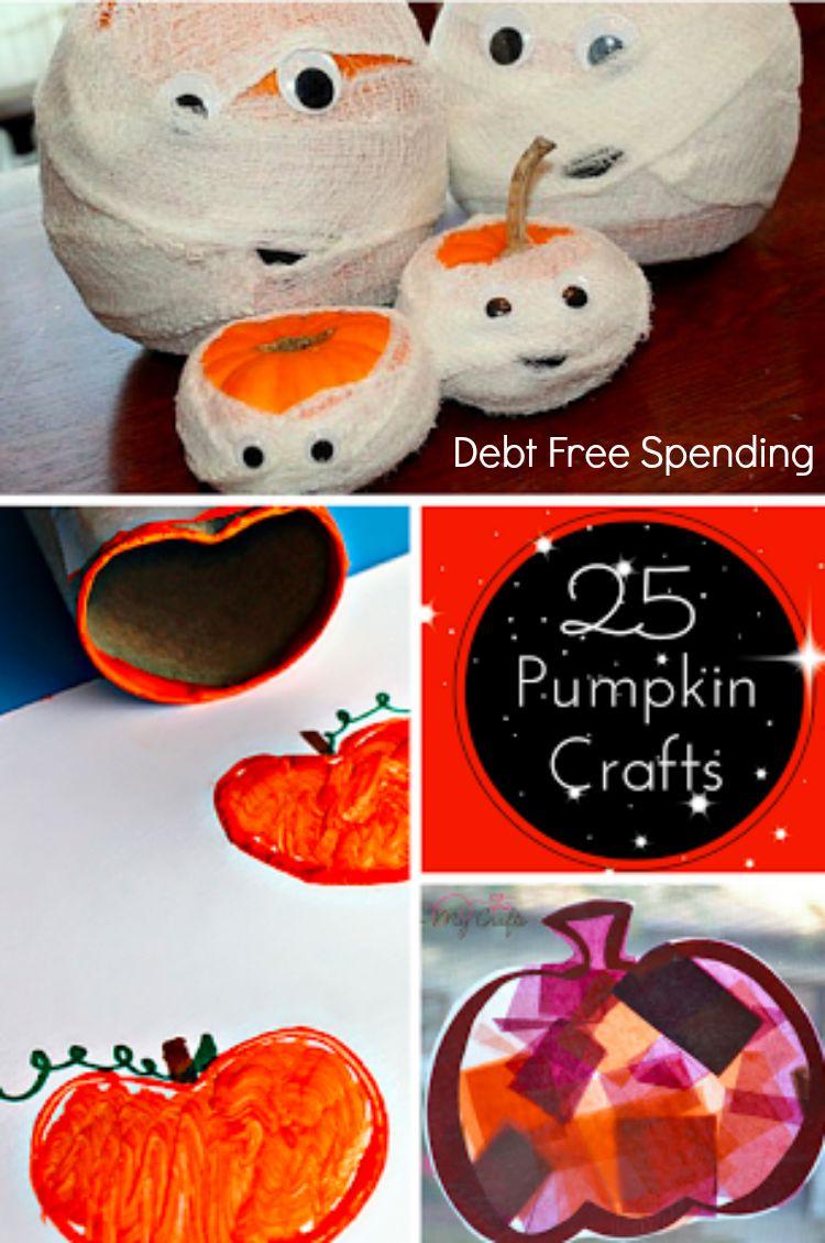 Twenty-Five Pumpkin Crafts for Fall