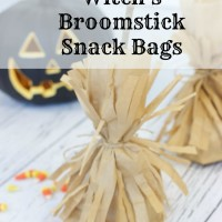 Witch's Broomstick Snack Bags