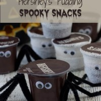 Hershey's Ready-to-Eat Pudding Spooky Snacks #ReadySetSnack #Ad