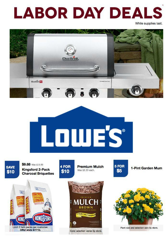 Lowe's Is Offering Labor Day Specials Lowe's is offering a series of Labor Day deals for Lowe's says on its website that you can find the specials in the stores or online on Labor Day.