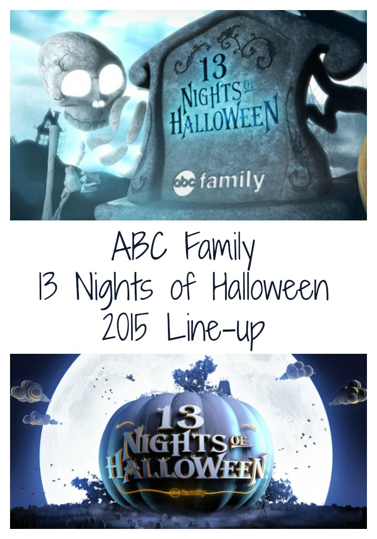 ABC Family '13 Nights Of Halloween' 2015 Schedule - Debt Free Spending