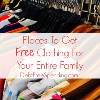 Places To Get Free Clothing For Your Entire Family (Day 26) #SpendingFreezeDFS