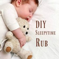 DIY Bedtime Rub with Essential Oils