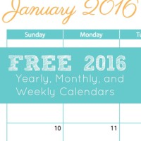 Free 2016 Calendar: Goal Sheet & Year-At-A-Glance
