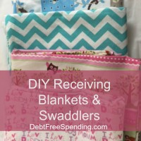 How to Make Your Own Homemade Swaddling Blanket & Receiving Blankets
