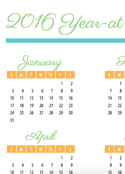 Calendar Year Goals Record : Free calendar goal sheet year at a glance