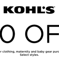 Kohl's: $10 off $30 Purchase of Baby, Toddler, or Maternity Clothing + Baby Gear