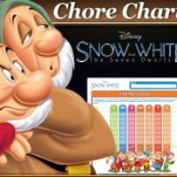 Snow White Seven Dwarfs Chore Chart