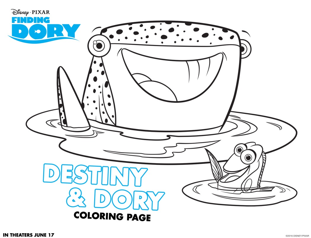 Coloring pages for dory - Coloring Pages Destiny