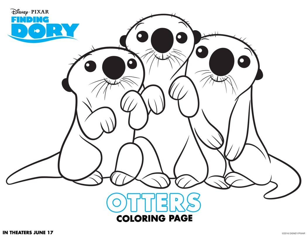 FINDING DORY Fun Coloring Pages and Activity Sheets