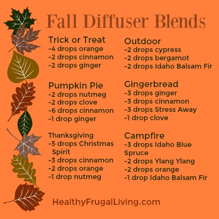Young Living Fall Diffuser Blends Debt Free Spending
