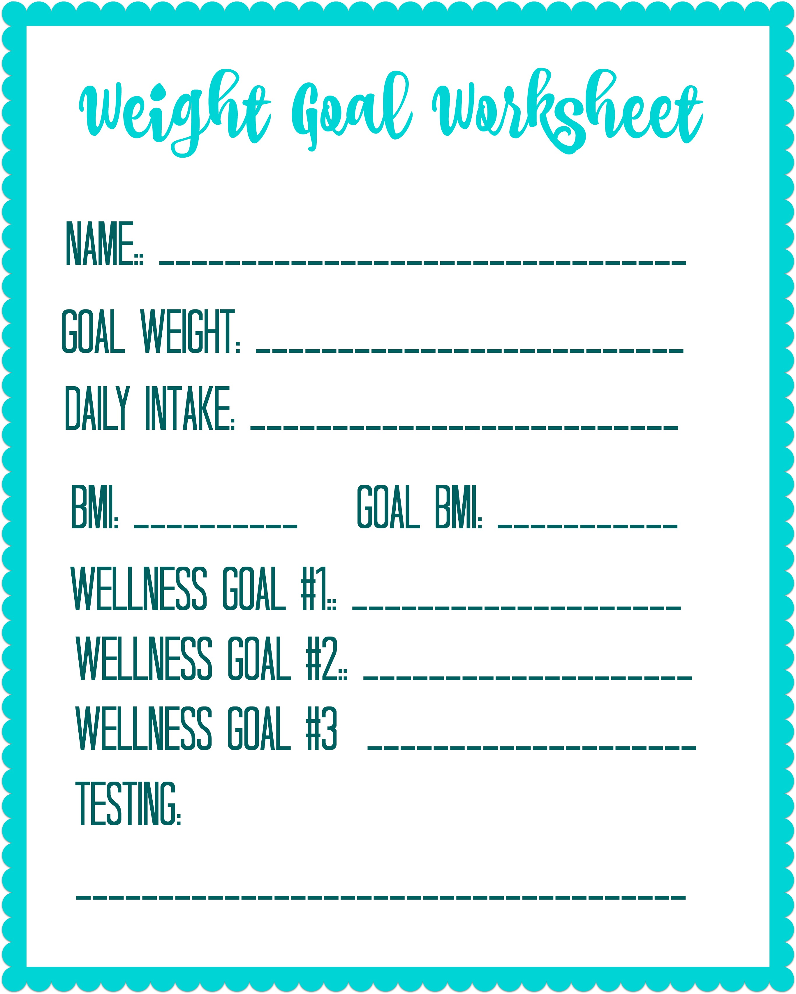 picture regarding Free Printable Weight Loss Tracker identified as Free of charge Printable Excess weight Decline Intent Worksheet - Personal debt No cost Expending